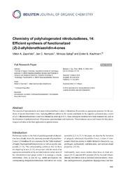 Vol 10: Chemistry of polyhalogenated nitrobutadienes, 14: Efficient synthesis of functionalized (Z)-2-allylidenethiazolidin-4-ones.