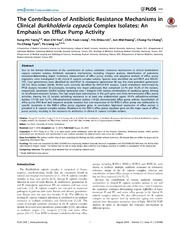Vol 9: The Contribution of Antibiotic Resistance Mechanisms in Clinical Burkholderia cepacia Complex Isolates: An Emphasis on Efflux Pump Activity.