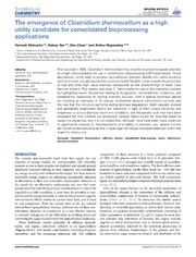 Vol 2: The emergence of Clostridium thermocellum as a high utility candidate for consolidated bioprocessing applications.