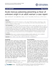 Vol 8: Acute mercury poisoning presenting as fever of unknown origin in an adult woman: a case report.