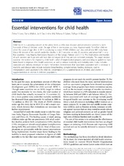 Vol 11: Essential interventions for child health.