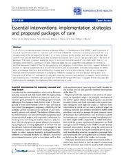 Vol 11: Essential interventions: implementation strategies and proposed packages of care.