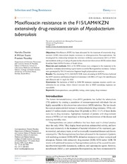 Vol 7: Moxifloxacin resistance in the F15-LAM4-KZN extensively drug-resistant strain of Mycobacterium tuberculosis.