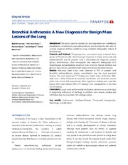 Vol 12: Bronchial Anthracosis: A New Diagnosis for Benign Mass Lesions of the Lung.