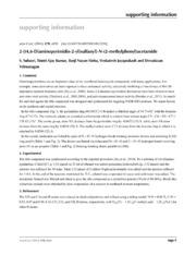 Vol 70: 2-(4,6-Di-amino-pyrimidin-2-yl)sulfan-yl-N-(2-methyl-phen-yl)acetamide.