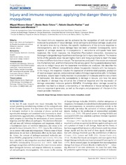 Vol 5: Injury and immune response: applying the danger theory to mosquitoes.