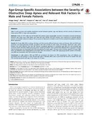 Vol 9: Age-Group-Specific Associations between the Severity of Obstructive Sleep Apnea and Relevant Risk Factors in Male and Female Patients.