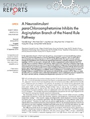 Vol 4: A Neurostimulant para-Chloroamphetamine Inhibits the Arginylation Branch of the N-end Rule Pathway.