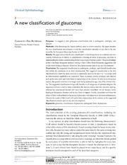 Vol 8: A new classification of glaucomas.