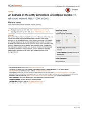 Vol 3: An analysis on the entity annotations in biological corpora.