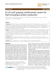 Vol 13: An Air-well sparging minifermenter system for high-throughput protein production.