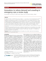 Vol 22: Innovations to reduce demand and crowding in emergency care; a review study.