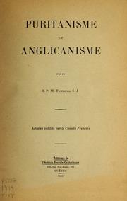 Puritanisme et anglicanisme