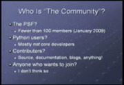 Image from PyCon 2009: The State of the Python Community: Leading the Python tribe (#118)