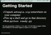 Image from PyCon 2009: Advanced SQLAlchemy (Part 1 of 3)