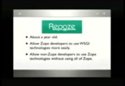 Image from PyCon 2009: The Big F'ing Tutorial: Development Using the repoze.bfg Web Framework (Part 1 of 3)
