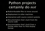 Image from PyCon 2009: Paver: easy build and deployment automation for Python projects (#13)