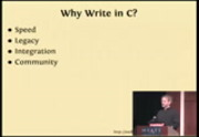 Image from PyCon 2009: A Whirlwind Excursion through Writing a C Extension (#68)