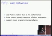Image from PyCon 2009: PyPy status talk (#72)