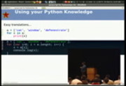 Image from Javascript for people who know Python