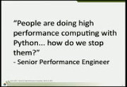 Image from Python for High Performance Computing