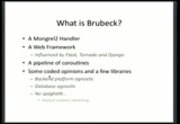 Image from PyGotham 2011: Building scalable websites and API's with Brubeck