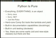 Image from PyOhio 2010: Lightning Talks