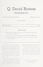 Q. David Bowers, Numismatist, Bulletin 1