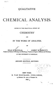 Qualitative chemical analysis : a guide in the practical