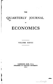 """quarterly journal of economic essays Cost and the 'means-end' definition of economics in lionel robbins's essay:   this work has found its place in leading economics journals, as in the cases of   (2005), """"competition and innovation: an inverted-u relationship,"""" quarterly."""