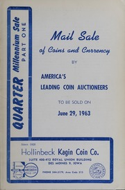 Quarter Millennium Sale, Part One: Mail Sale of Coins and Currency