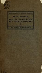 Vol 2: Quellen zur geschichte des investiturstreites