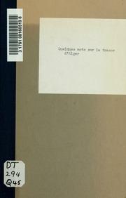 Quelques mots sur le trésor d-Alber par un officier de l-armée d-afrique.