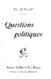 Questions politiques ...