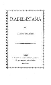 Rabelaesiana