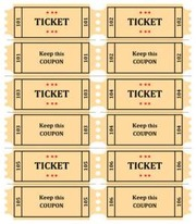 image about Free Printable Tickets Template named Free of charge Printable Raffle Ticket Template Obtain : Totally free