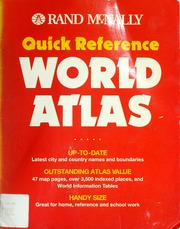 Rand McNally Quick Reference World Atlas World Atlas // Quick Reference