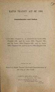 Rapid transit act of 1891 w...