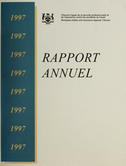 Rapport Annuel Tribunal d-appel des accidents du travail 1997