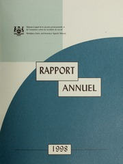 Rapport Annuel Tribunal d-appel des accidents du travail 1998