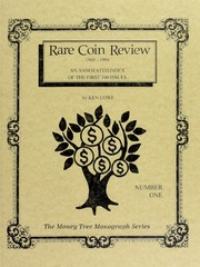 Rare Coin Review, 1969-1994:  An annotated index of the first 100 issues, number one.