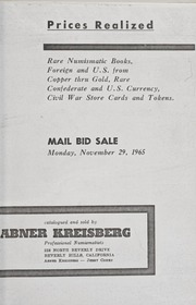 Rare Numismatic Books, Foreign and U.S. from Copper thru Gold, Rare Confederate and U.S. Currency, Civil War Store Cards and Tokens