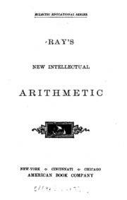 Ray's New Arithmetic