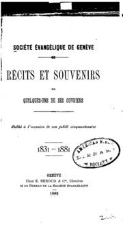 Récits et souvenirs de quelques-uns de ses ouvriers 1831-1881