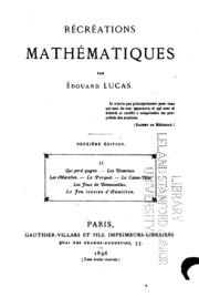 Vol 2: Récréations mathématiques
