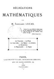 Vol 1: Récréations mathématiques