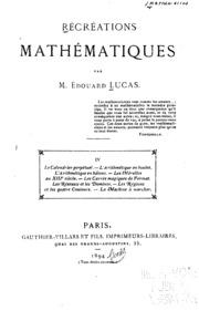 Vol 4: Récréations mathématiques