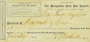 Receipt for Metropolitan Bank Reporter