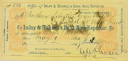 Receipt for semi monthly Imlay & Bicknell's Bank Note Reporter for $3