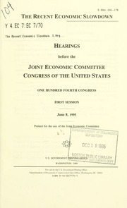 Technology and economic policy : hearing before the Joint ...